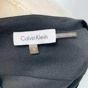 Calvin Klein Tops - Calvin Klein Blouse Pocket Roll Tab Sleeve Black